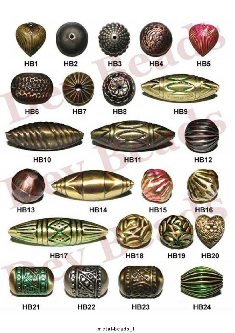 Brass Hollow Beads Engraved Brass Beads Hollow Metal